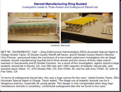 oct 09 dea - ring busted